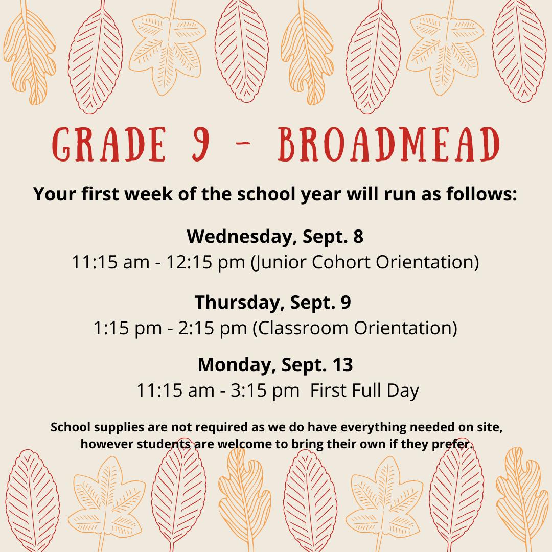 Grade 9 Broadmead