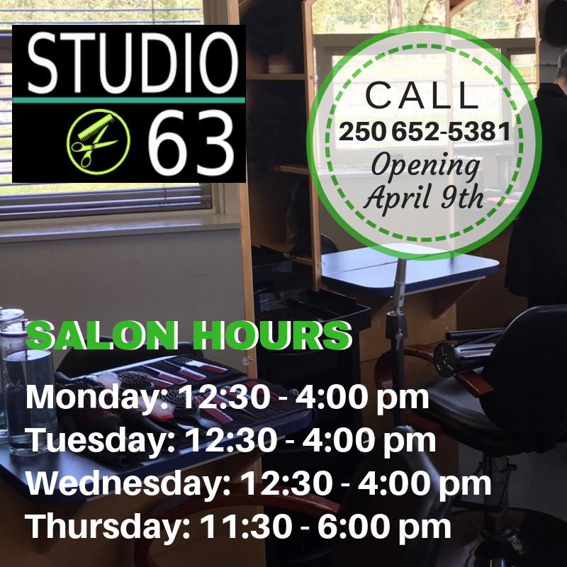 hours for studio 63